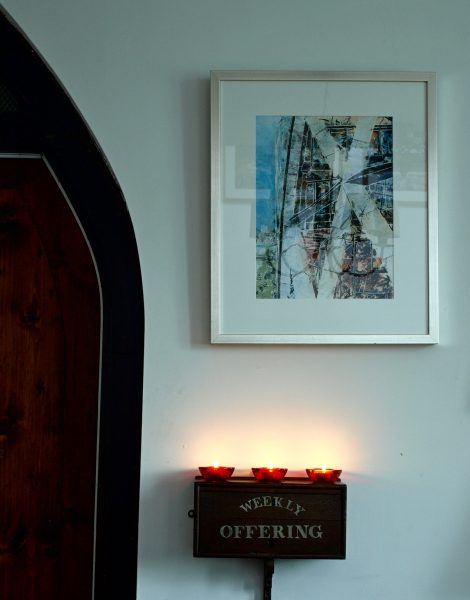 ©2014 - Cathy Read - Ground Star scene - Watercolour and Acrylic - 40 x 30 cm £270