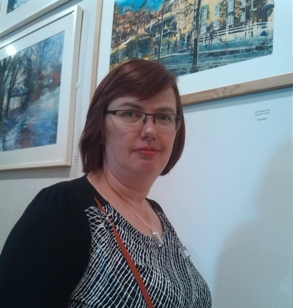 SWA Exhibition 2015 PV Cathy Read with Paintings