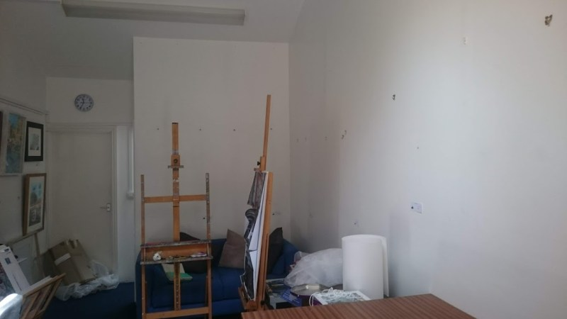 Empty studio or what happens when I send work to a big exhibition