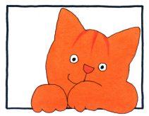 Dikkie Dik, ein beliebtes Kinderbuch mit einem munteren, roten Kater