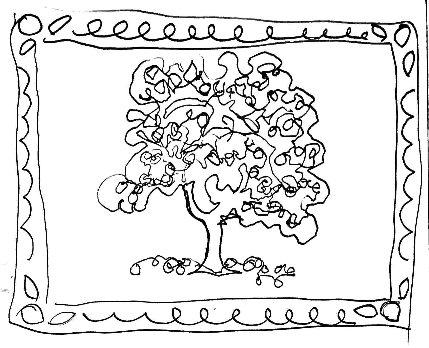 free apple tree coloring pages