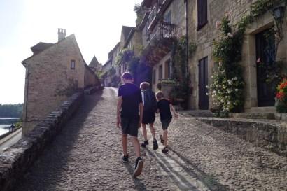 Walking around cobblestoned villages is not interesting for children