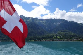 On board the paddlesteamer on Lake Brienz