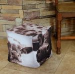 Cows Fabric Ottoman