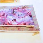 Floral Themed Zipper Pouch Set