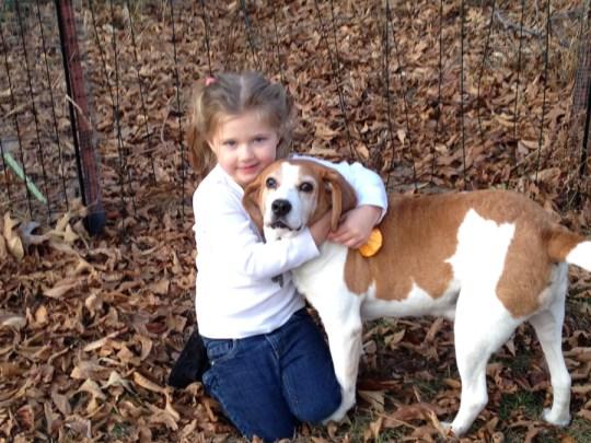 FACT: Children love blind dogs.