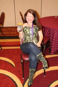 Cat Johnson in a Camouflage Corset at RAGT 12