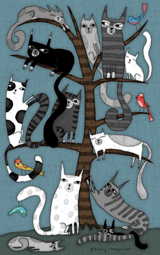 Cat Tree by Terry Runyan