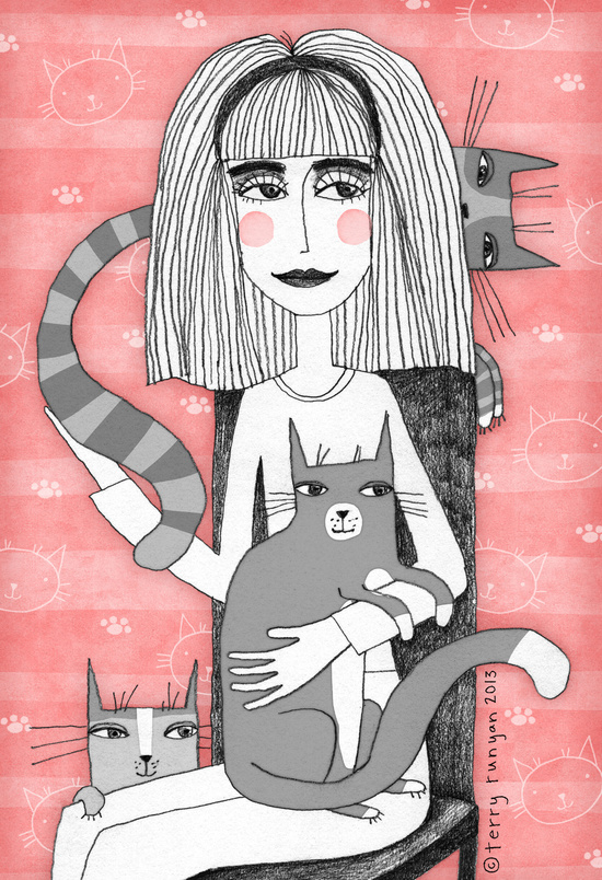 Crazy Cat Lady by Terry Runyan