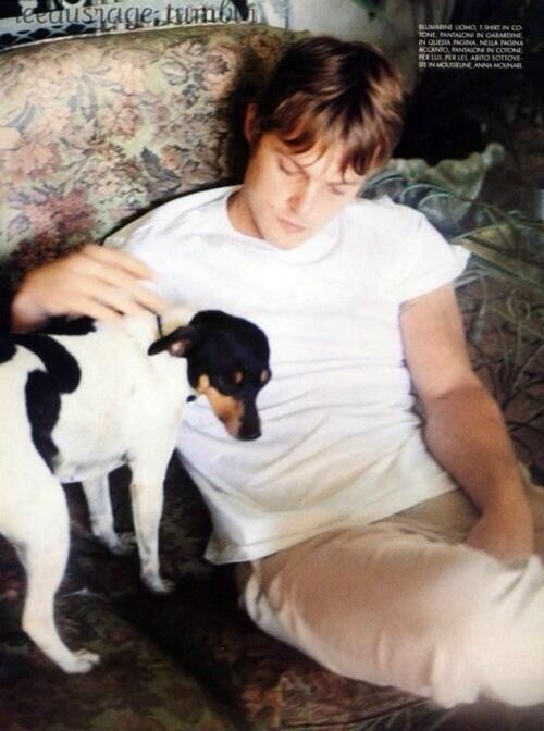 Norman Reedus with dog