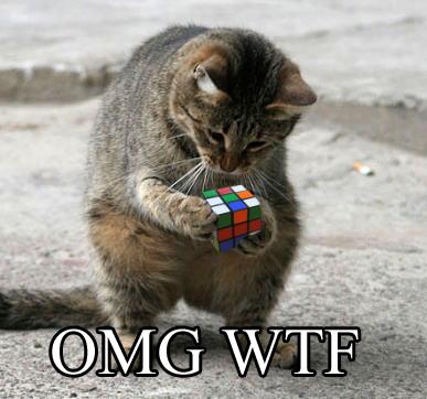 omg wtf rubiks cube puzzle lol cat macro