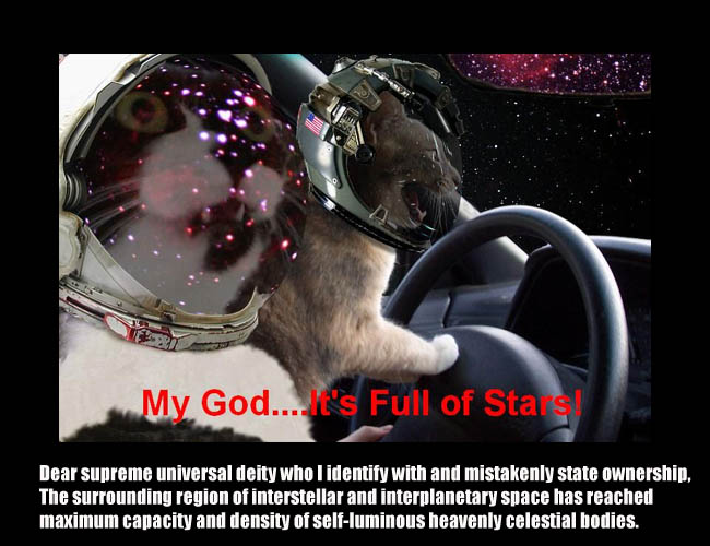 astronaut outer space fulla stars mapquest driving lol cat macro