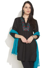 Soch Kurta With Vivid Embroidery, black, xl