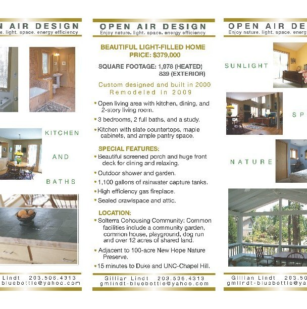 Residential Real Estate Tri-Fold Brochure (Inside)