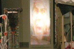 """Why Cinema Rules"" & ""7 Foot Stand-In"" installed at the Ackland Art Museum, UNC-Chapel Hill."