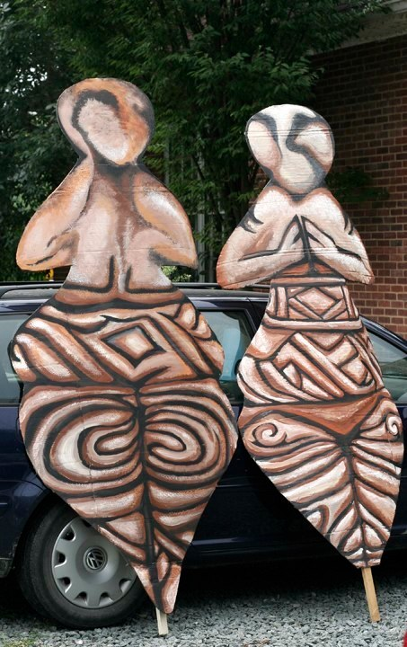 """""""Goddess Figures (Front & Back views)"""" Play:The Serpent's Egg, Paperhand Puppet Intervention"""