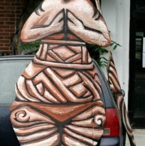 """""""Goddess Figure (Front)"""" Play:The Serpent's Egg, Paperhand Puppet Intervention"""