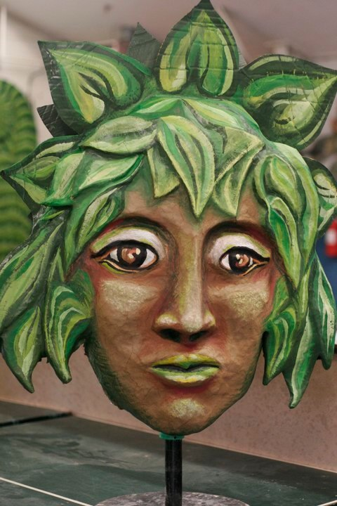 """""""Forest Goddess Head III"""" Play: The Serpent's Egg, Paperhand Puppet Theater"""