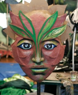 """Forest Goddess Head IV (In progress)"" Play: The Serpent's Egg, Paperhand Puppet Theater"