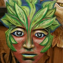 """""""Forest Goddess Head IV"""" Play: The Serpent's Egg, Paperhand Puppet Theater"""