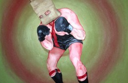"""""""The Republican Candidate,"""" 2003, 30″ x 30″, Acrylic on canvas."""