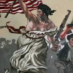 Liberty Leading The People To Glenn Beck's B-B-Q (DETAIL)