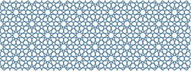 The design used as a continuous pattern