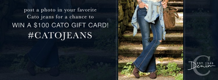 Post a photo in your favorite Cato jeans for a chance to win a $100 Gift Card! #CatoJeans.