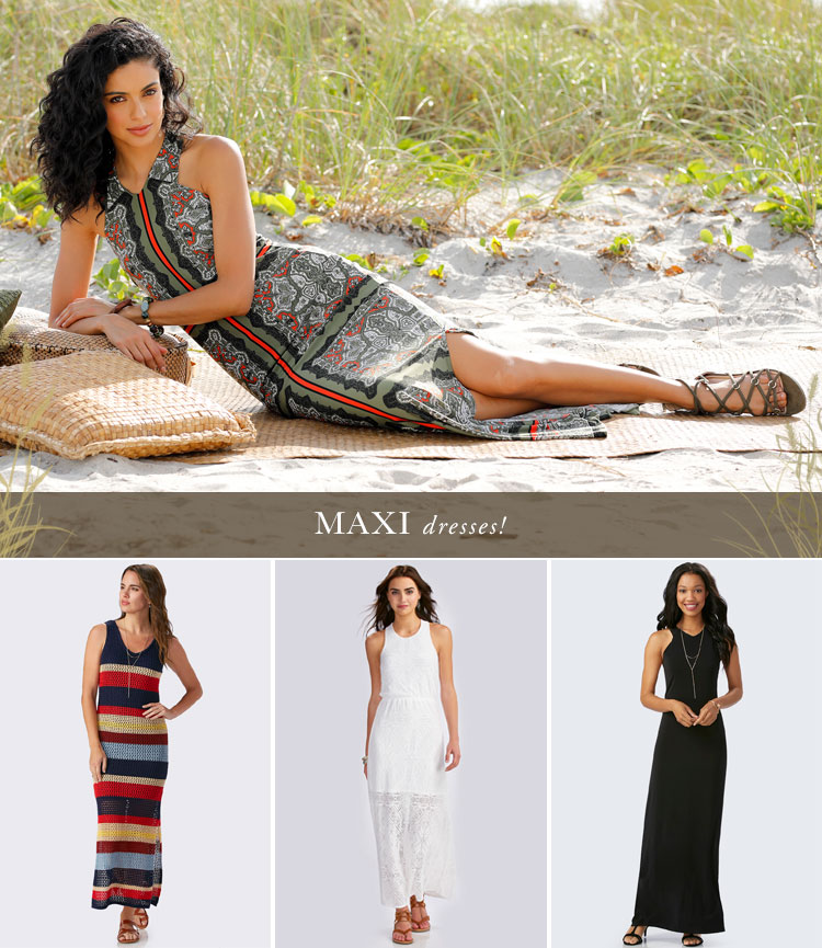 Maxi Dresses! A variety of beautiful maxi dresses available at Cato