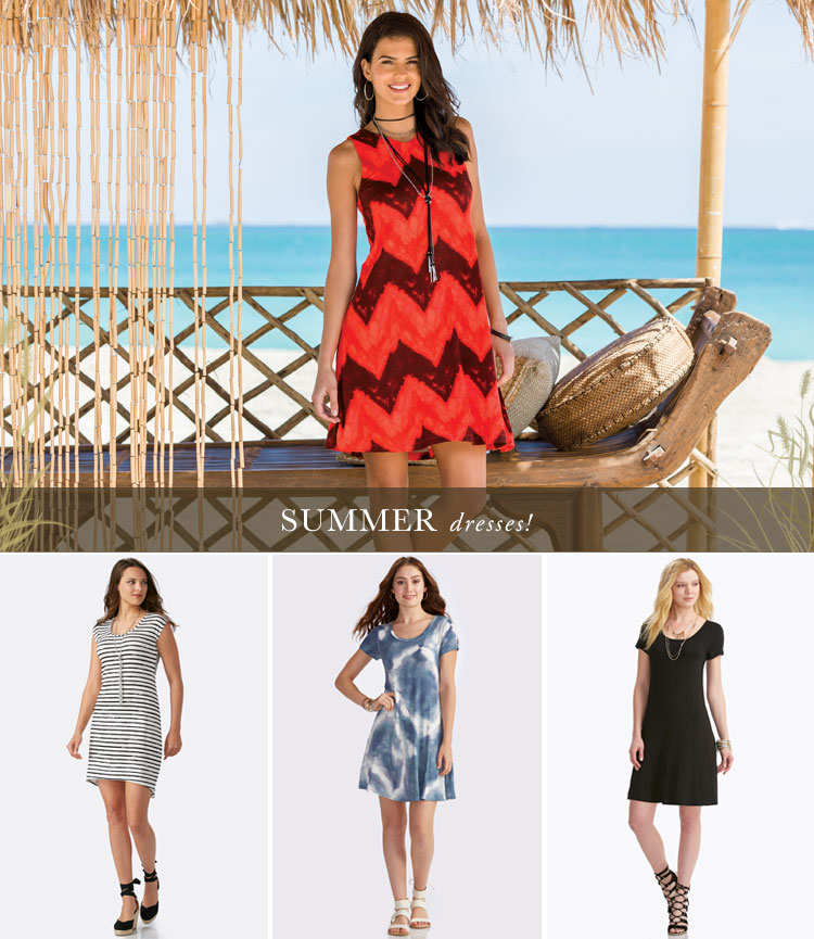 Summer Dresses! A variety of summer dresses available at Cato