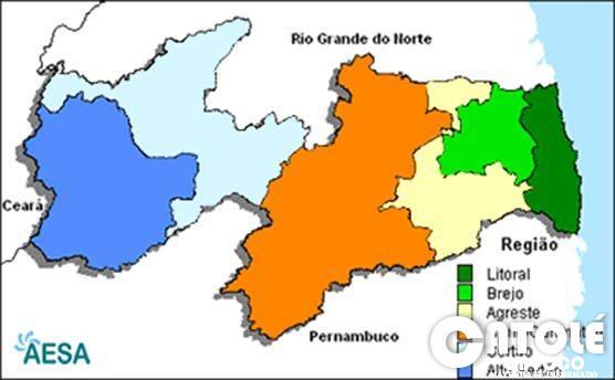 mapa paraiba clima