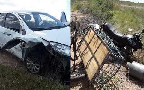 colisao entre carro e moto deixa duas pessoas feridas em mato grosso pb