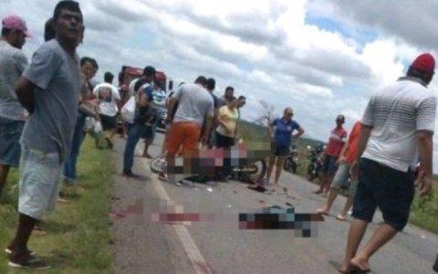 acidente grave no sertao mata uma pessoa e deixa outro gravemente ferido