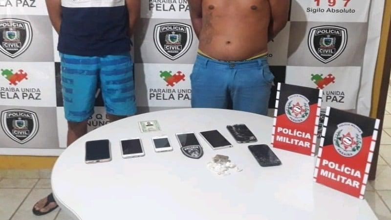 policia militar e civil prendem suspeitos e apreendem drogas em catole do rocha