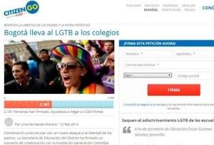 Miles exigen detener adoctrinamiento gay en escuelas de Colombia.