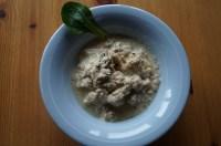 viande hachée avec courgettes, carottes et compléments naturels (algues marines, graines de lin)