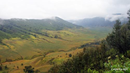 Destinasi idola di Kawasan Taman Nasional Bromo Tengger Semeru, bukit teletubies ^^