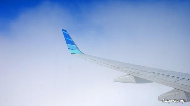 Touchdown! Mulai memasuki awan putih!