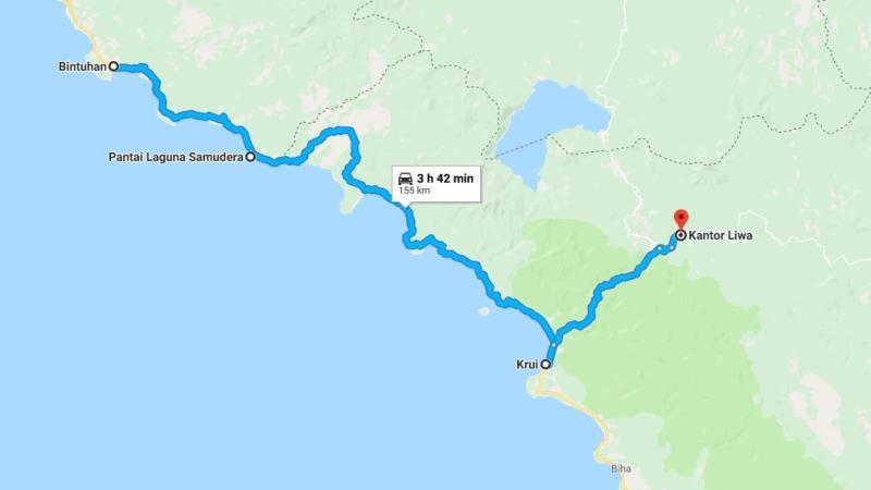 Day 18 - 25 Maret 2019 : Bintuhan - Liwa (via Pantai Laguna Samudra, Krui)