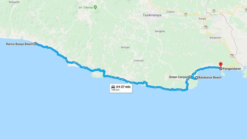 Day 26 - 2 April 2019 : Rancabuaya - Pengandaran (via Green Canyon, Pantai Batukaras)