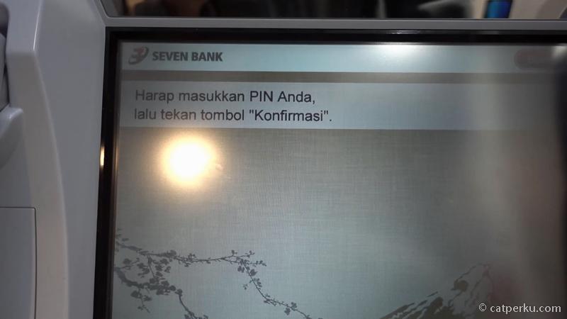 7. Masukkan nomor pin ATM yang biasa digunakan