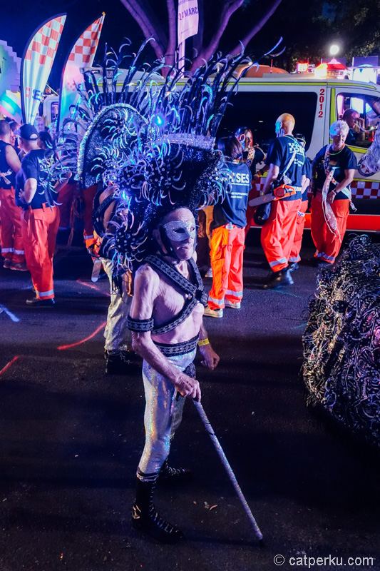 Banyak kostum unik bisa dilihat di festival