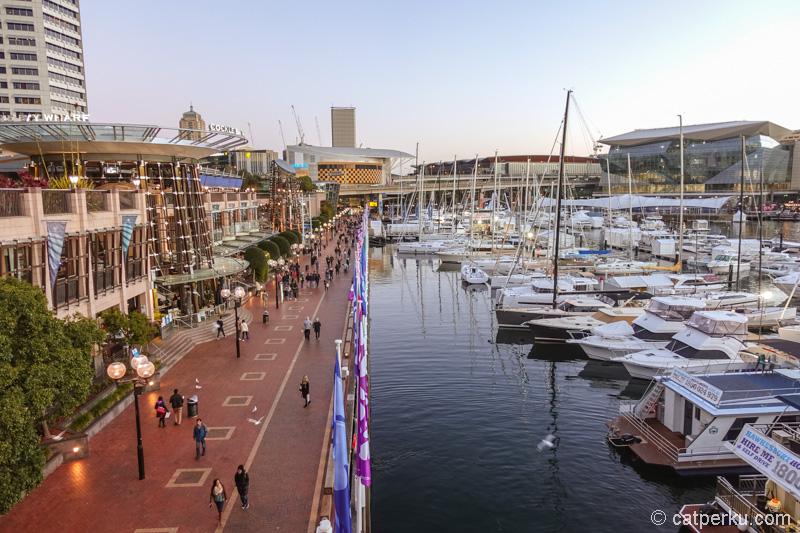 Darling Harbour, wisata gratis di Sydney, tempat favorit untuk ngabuburit