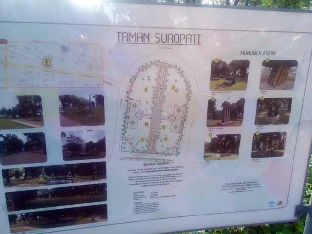 Denah lokasi Taman Suropati yang ada di Menteng