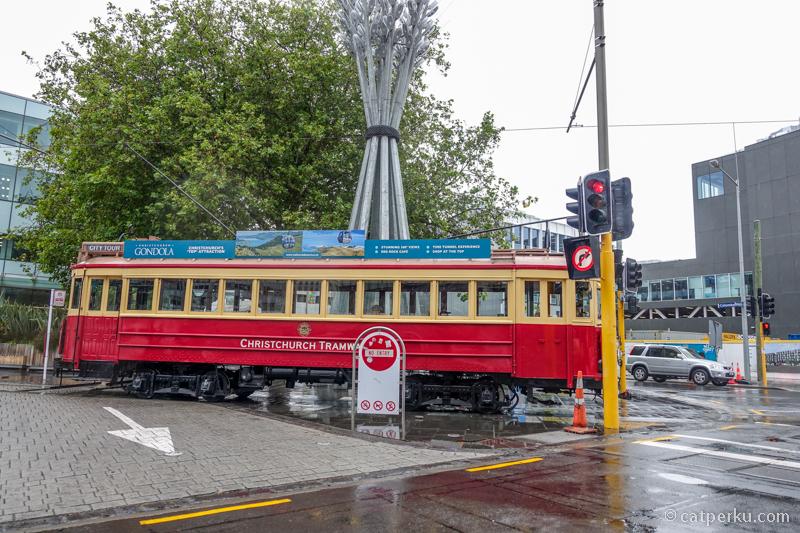Disambut hujan ketika sampai di Christchurch