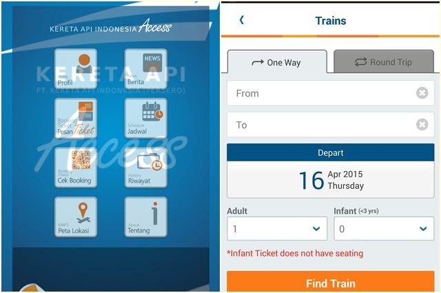 Gunakan mobile apps untuk memperbesar kesempatan mendapatkan tiket.
