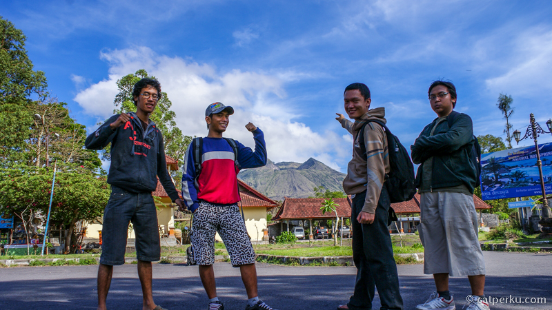 Gunung Batur dari starting point pendakian