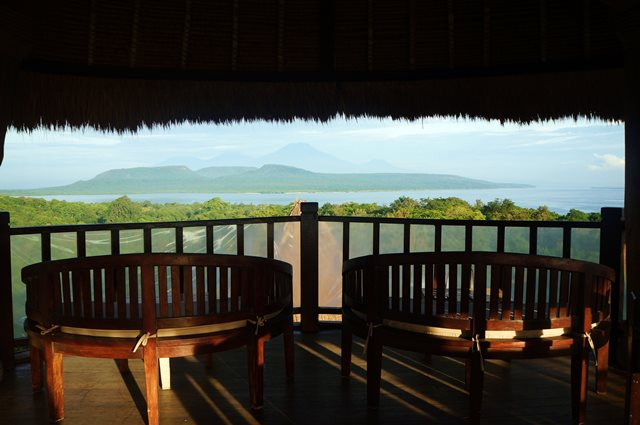 Ini tempat favorit saya bersantai di The Menjangan Resort.