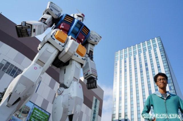 Robot raksasa yang terkenal dengan nama Gundam!