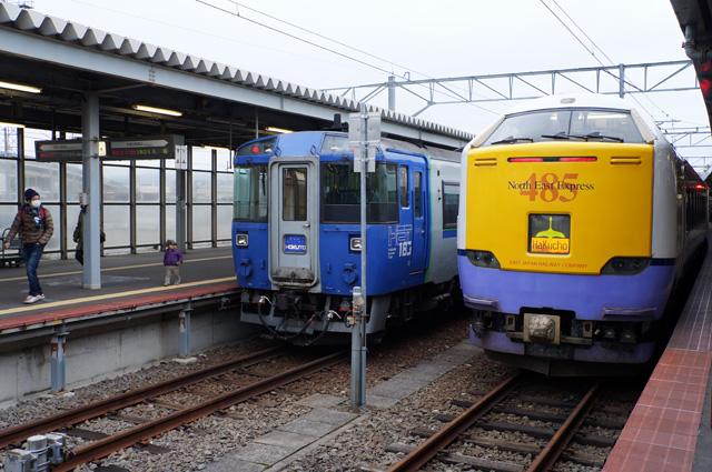 Kereta Express yang mengantarkan saya dengan selamat sampai Kota Hakodate.